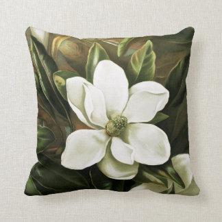Alicia H. Laird: Magnolia Grandflora Throw Pillow