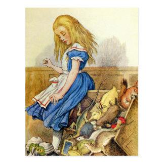 Alicia inclina la caja del jurado en el bribón de tarjeta postal