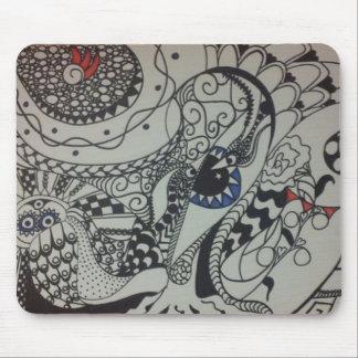alicia kelletts spiritual tangle art mouse pad
