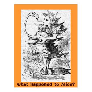 Alicia licuada en el país de las maravillas con el tarjetas postales