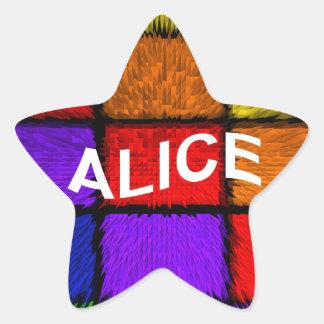 ALICIA (nombres femeninos) Pegatina En Forma De Estrella