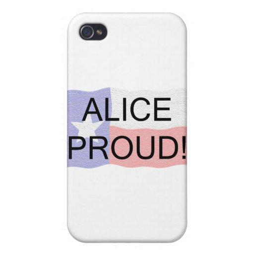 Alicia orgullosa iPhone 4/4S carcasa