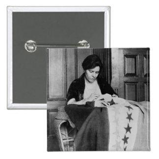 Alicia Paul, bandera de costura del sufragio, los  Pin Cuadrado