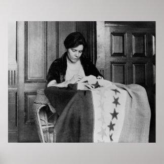 Alicia Paul, bandera de costura del sufragio, los  Póster