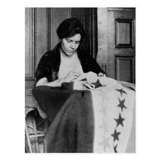 Alicia Paul bandera de costura del sufragio los Postal