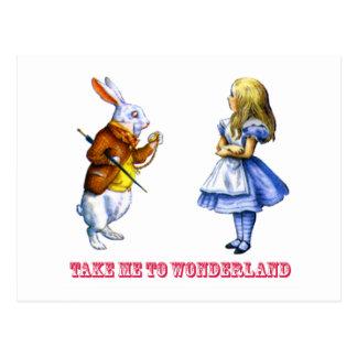 """Alicia pide el conejo a, """"lléveme al país de las postales"""