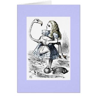 Alicia que juega el croquet de la reina tarjeta de felicitación