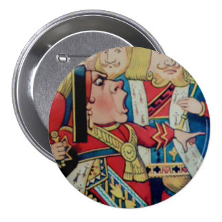"""Alicia-Reina de corazones - 3"""" botón Pin"""
