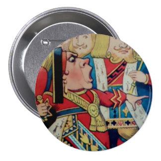 "Alicia-Reina de corazones - 3"" botón"