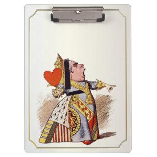 Alicia - reina de corazones - tablero de clip