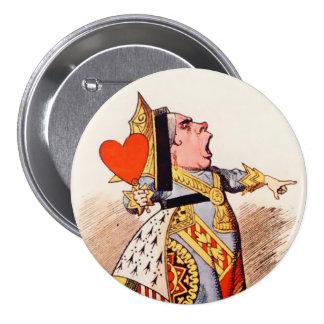 """Alicia-Reina de los corazones 2 - 3"""" botón Pin"""