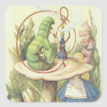Alicia resuelve Caterpillar Calcomanía Cuadradas