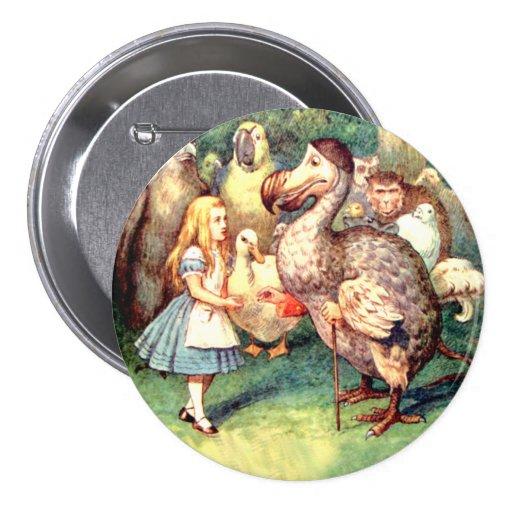 Alicia resuelve el pájaro del Dodo en la raza del  Pins