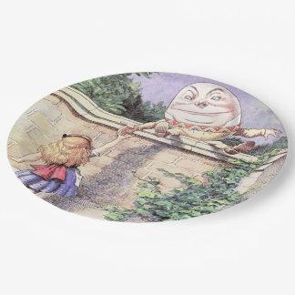 Alicia resuelve Humpty Dumpty Plato De Papel De 9 Pulgadas