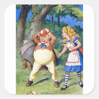 Alicia resuelve Tweedledee en el país de las Pegatina Cuadrada