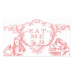 Alicia rosada en tarjetas de la comida del boda de