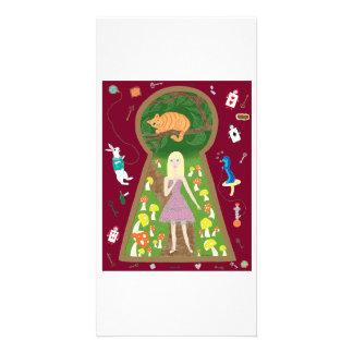 Alicia (serie de la moda del cuento de hadas #4) tarjetas fotograficas personalizadas