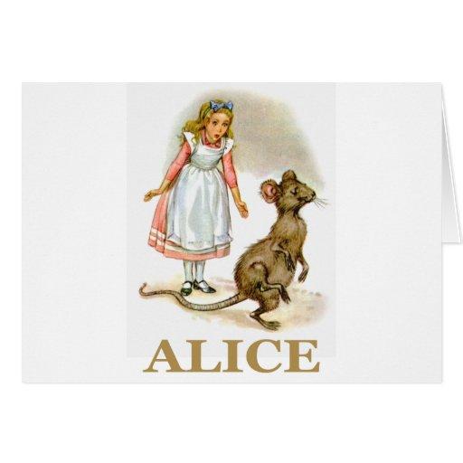 Alicia sigue el ratón tarjetas