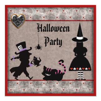 Alicia, sombrerero enojado y fiesta de Halloween Anuncio