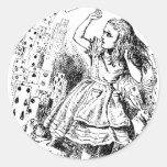 Alicia - tarjetas pegatinas redondas