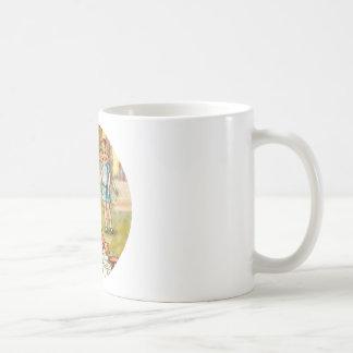 Alicia tropieza sobre la fiesta del té del taza clásica