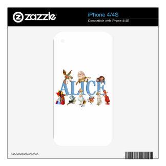 Alicia y amigos en el país de las maravillas skins para eliPhone 4