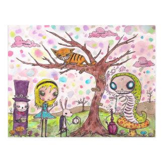 Alicia y amigos tarjeta postal