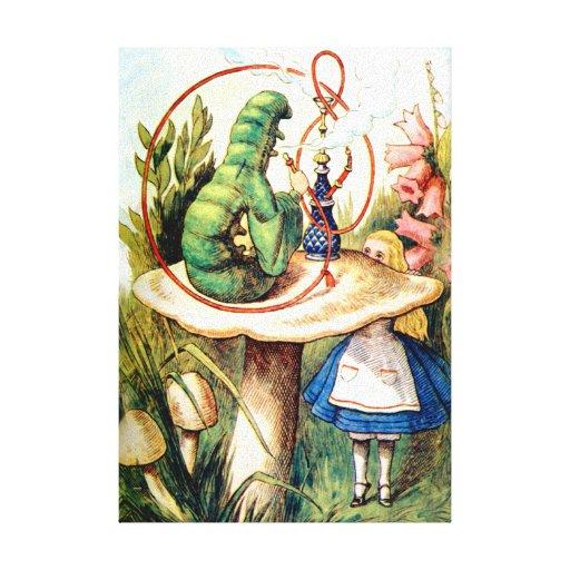 Alicia y Caterpillar en el país de las maravillas Lona Estirada Galerias
