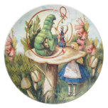 Alicia y Caterpillar en el país de las maravillas Plato De Comida