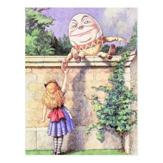 Alicia y color de Humpty Postal