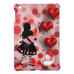 Alicia y corazones y tetera retros del flamenco iPad mini carcasa