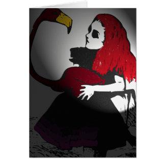 Alicia y Dodo góticos Tarjeta De Felicitación
