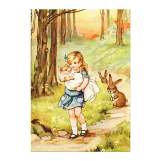 Alicia y el bebé del cerdo en el país de las marav impresiones en lienzo estiradas