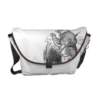 Alicia y el bolso blanco del conejo bolsas de mensajeria