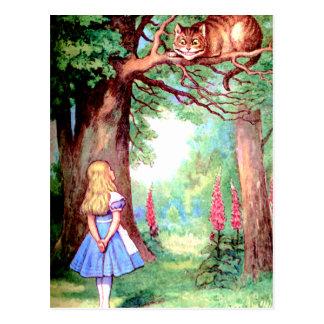 ALICIA Y EL CAT DE CHESHIRE POSTALES