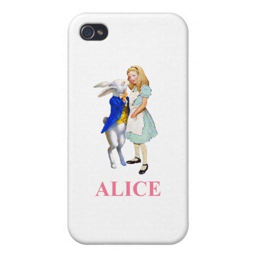 Alicia y el conejo blanco en el país de las maravi iPhone 4 fundas