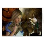 Alicia y el conejo blanco tarjeta de felicitación
