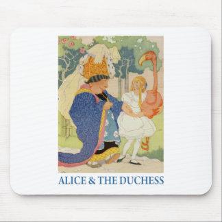 Alicia y el croquet del flamenco del juego de la d mousepad