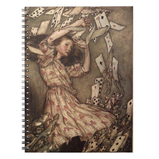 Alicia y el cuaderno de Arturo Rackham de las tarj