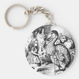 Alicia y el Dodo Llavero Redondo Tipo Pin