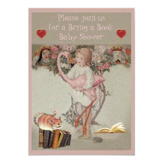 Alicia y el flamenco rosado traen una fiesta de invitación 11,4 x 15,8 cm