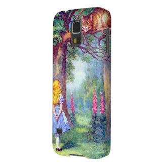 Alicia y el gato de Cheshire a todo color Carcasa Galaxy S5
