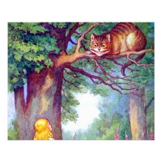 Alicia y el gato de Cheshire a todo color Tarjetones