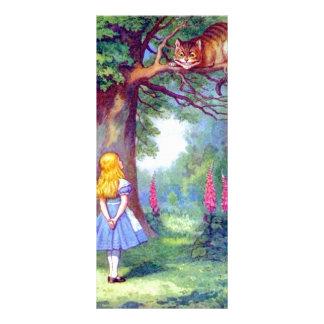 Alicia y el gato de Cheshire a todo color Lonas
