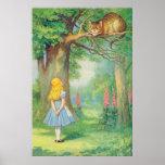 Alicia y el gato de Cheshire a todo color Impresiones
