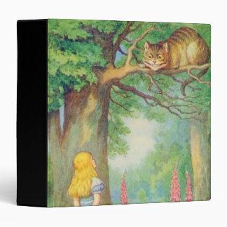 """Alicia y el gato de Cheshire en a todo color Carpeta 1 1/2"""""""