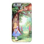 Alicia y el gato de Cheshire en el país de las Funda De iPhone 6 Barely There