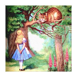 Alicia y el gato de Cheshire en el país de las mar Impresiones De Lienzo
