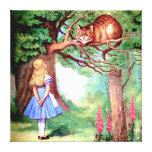 Alicia y el gato de Cheshire en el país de las mar Lona Estirada Galerias