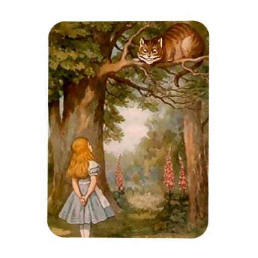 Alicia y el gato de Cheshire - imán